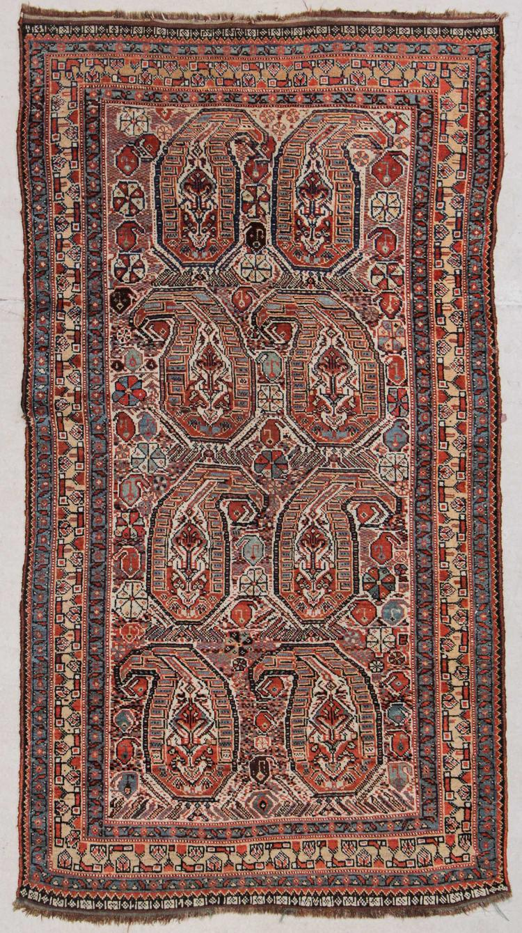 Antique Gashgai Rug: 3'8