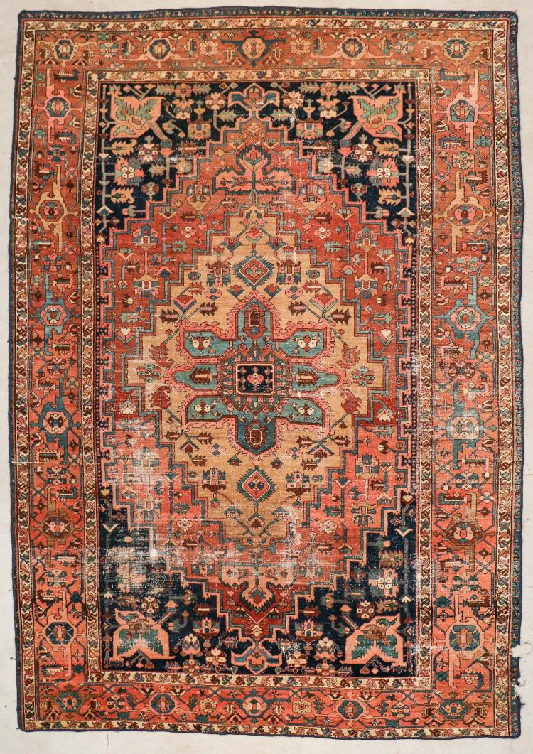 Antique Heriz Rug: 8'3'' x 11'11'' (251 x 363 cm)
