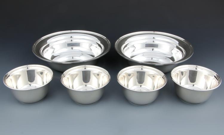 6 S Kirk & Son Sterling Silver Bowls