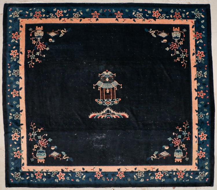 Antique Chinese Rug: 12'11'' x 11'3'' (394 x 343 cm)