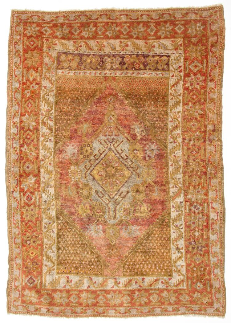 Antique Oushak Village Rug: 3'3