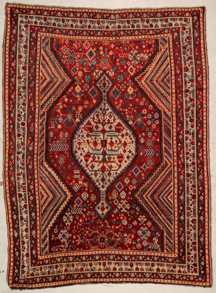 Antique Shiraz Rug: 5'4