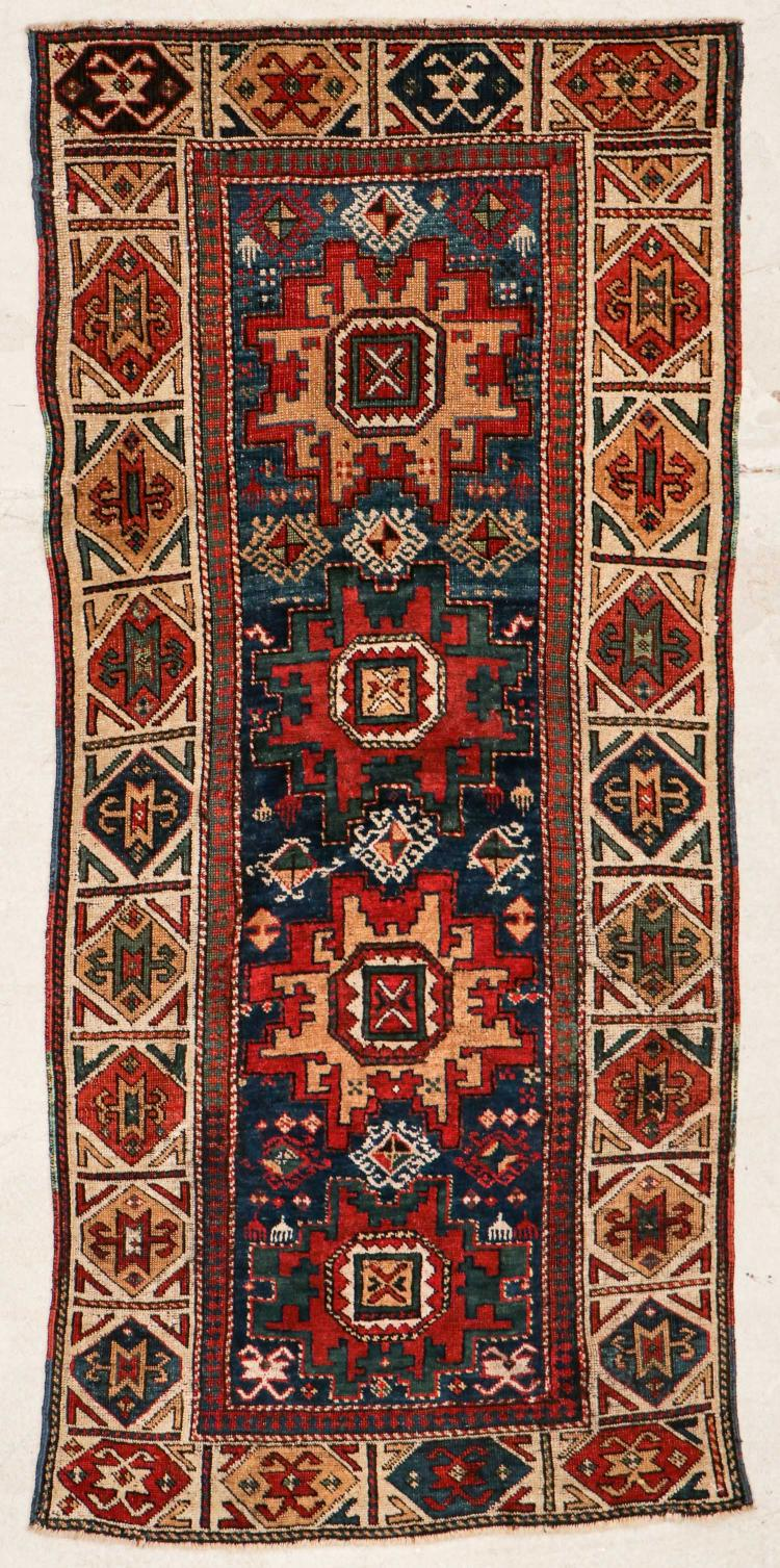 Antique Caucasian Rug: 3'1