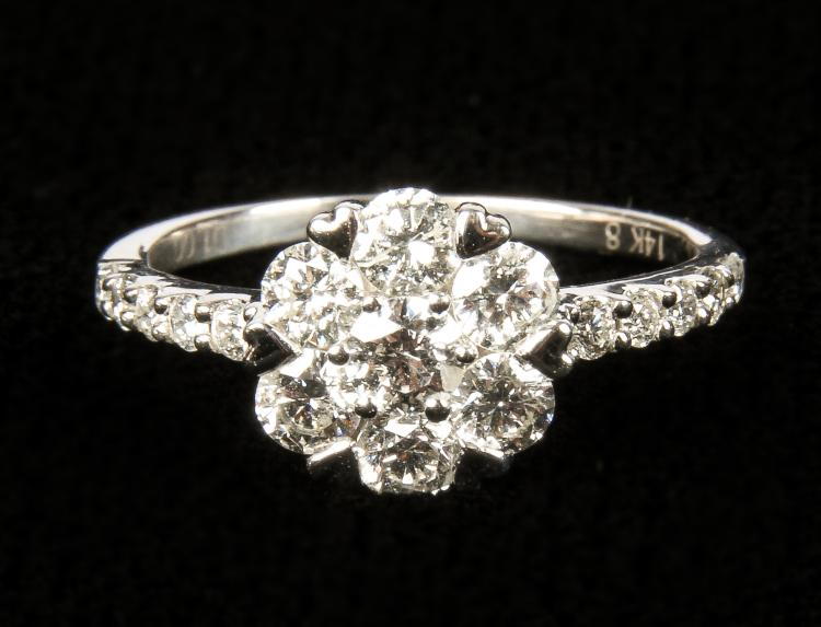 Ladies 14kt White Gold Diamond Ring