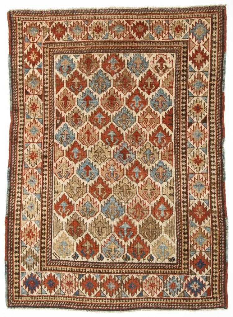 Antique Kazak Rug: 3'11
