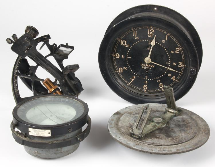 4 Vintage Naval Ship Instruments