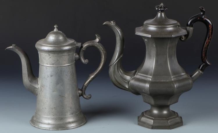 2 Antique Pewter Pots