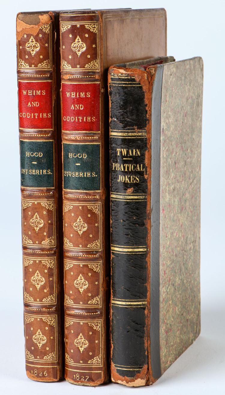 Study group of 19th C Humor Books