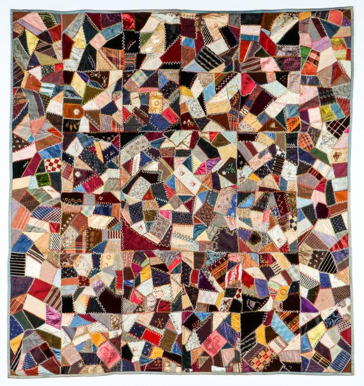 Fabulous Antique Victorian Crazy Quilt