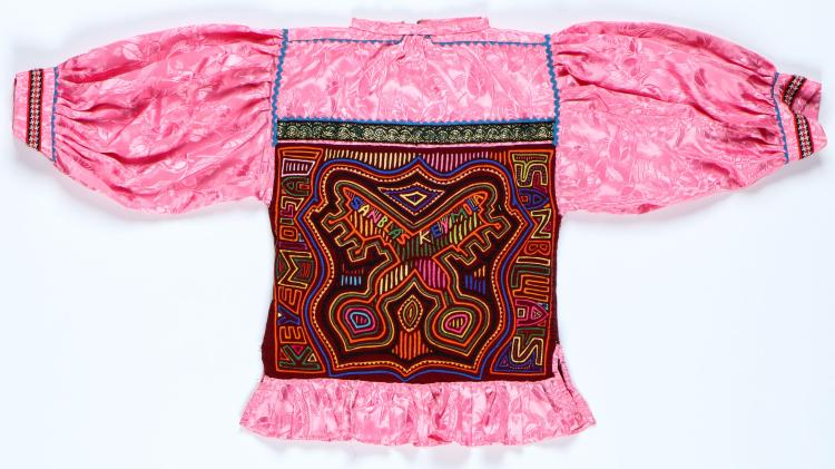 Rare and Finely Crafted Double Panel Mola Blouse