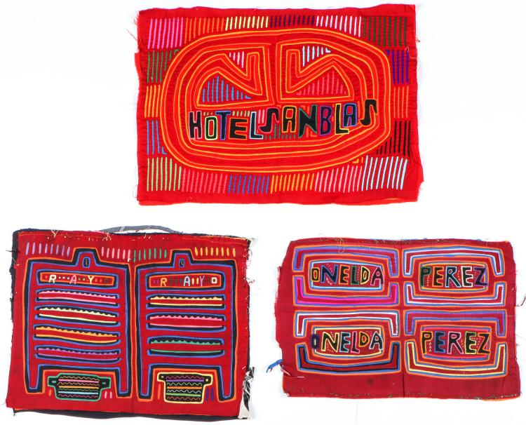 Three Vintage pre-1970 San Blas Islands Molas