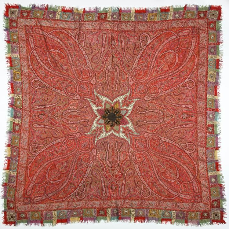 Fine 19th c. Kashmir Shawl, India: 78