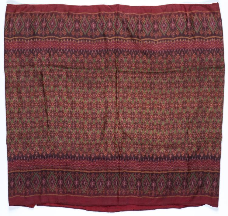 Cambodian Silk Ikat Sarong, Early 20th C