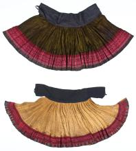 2 S. China Minority Ceremonial Skirts, Early 20th C