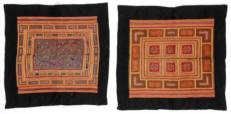 2 Embroidered S. China Minority Textiles