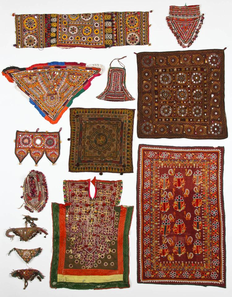 Group of 13 Indian Textiles