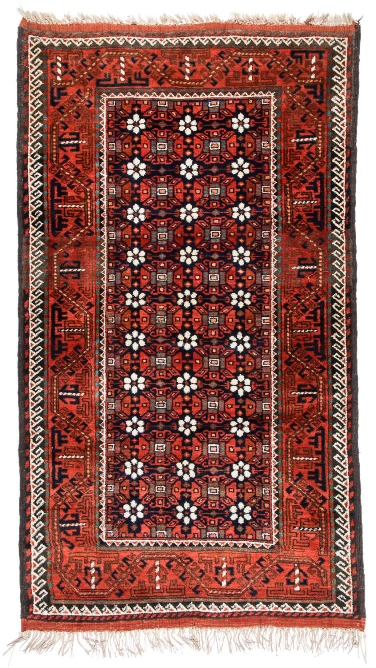 Antique Beluch Rug, Afghanistan: 4'4'' x 7'8''