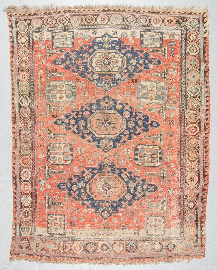 Antique Sumak Rug, Caucasus: 7'11'' x 9'10''