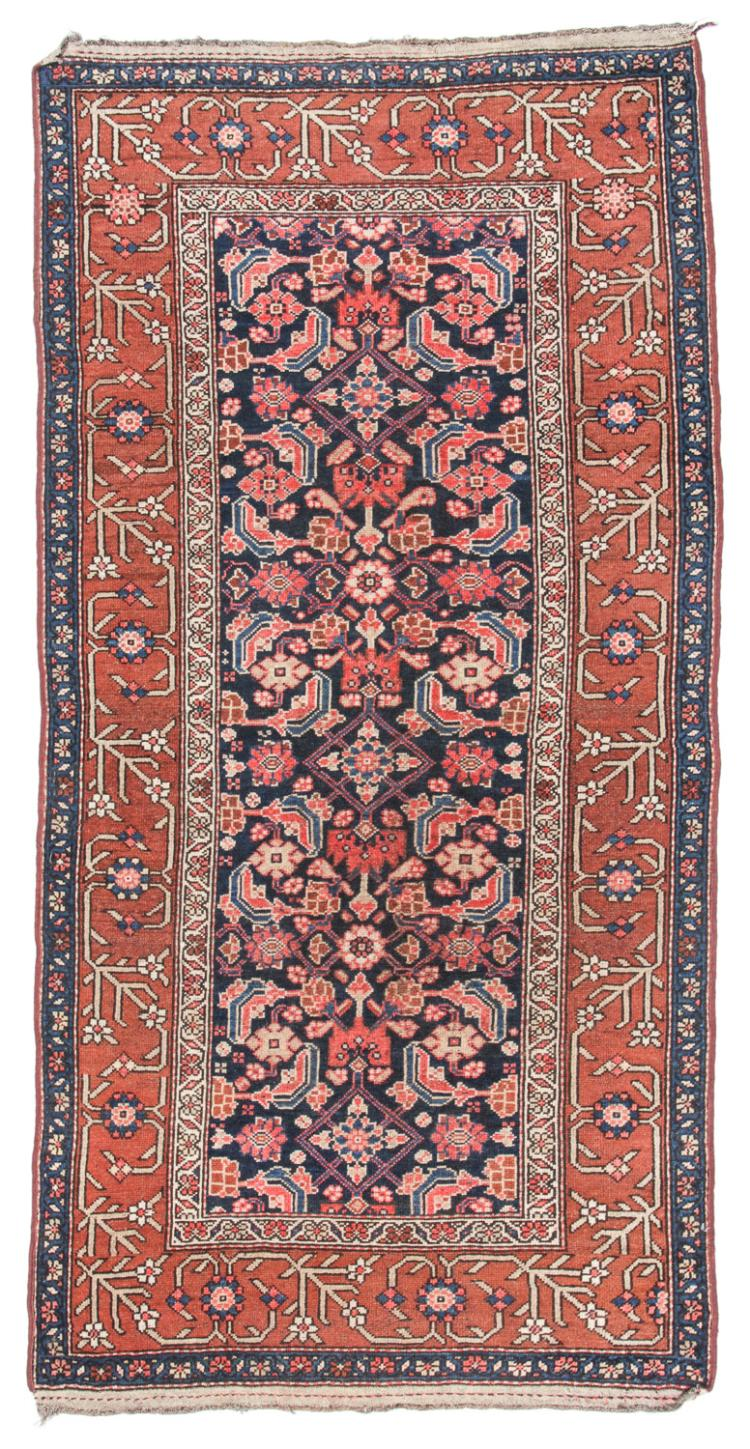 Antique Hamadan Rug, Persia: 3'7'' x 7'