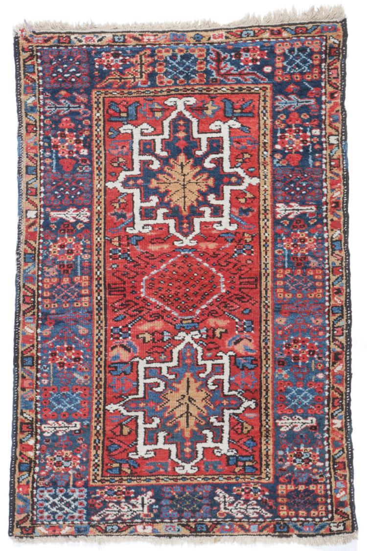 Antique Karadja Rug, Persia: 2'10'' x 4'6''