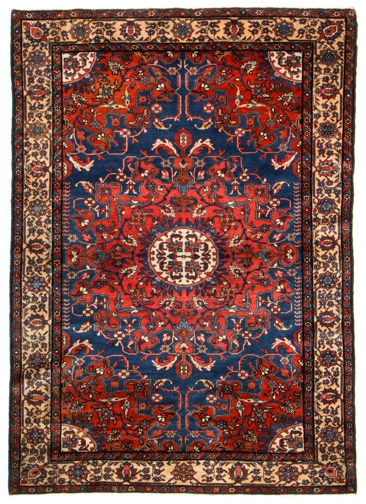 Antique Malayer/Tafresh Rug, Persia: 4'6'' x 6'4''