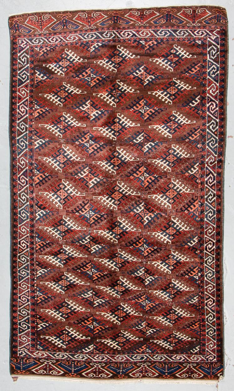 Antique Yomud Rug, Turkmenistan: 6'3'' x 10'7''