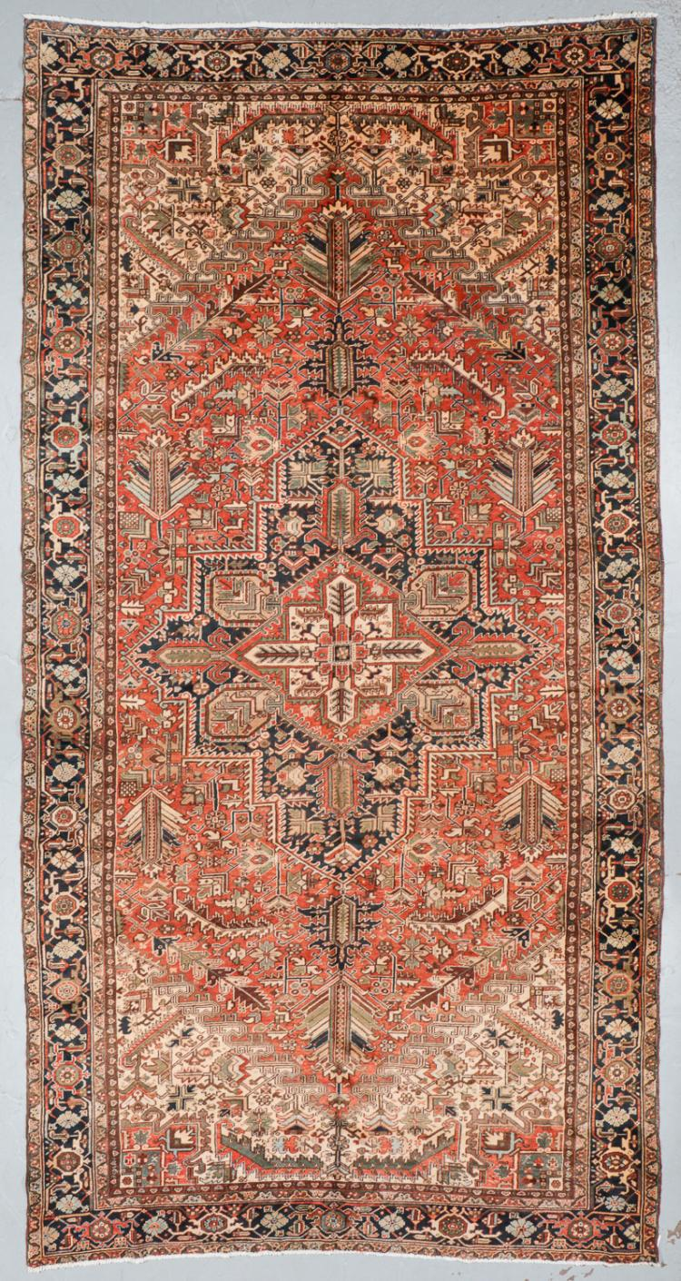 Semi-Antique Mansion-Size Heriz Rug, Persia: 9'10'' x 19'5''