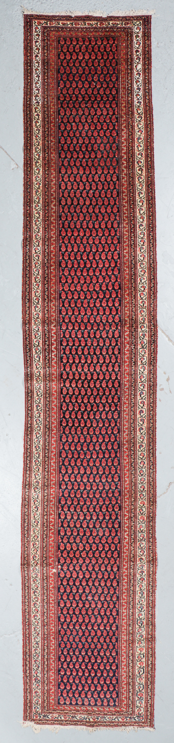 Antique Malayer Rug, Persia: 3' x 16'6''