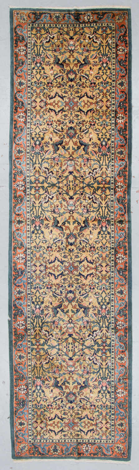 Antique Laristan Rug, Persia: 3'1'' x 14'