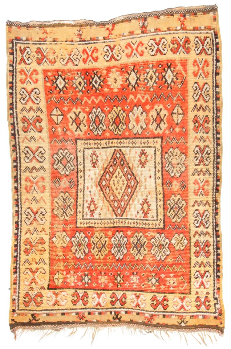 Antique Moroccan Rug: 4'3'' x 6'4''