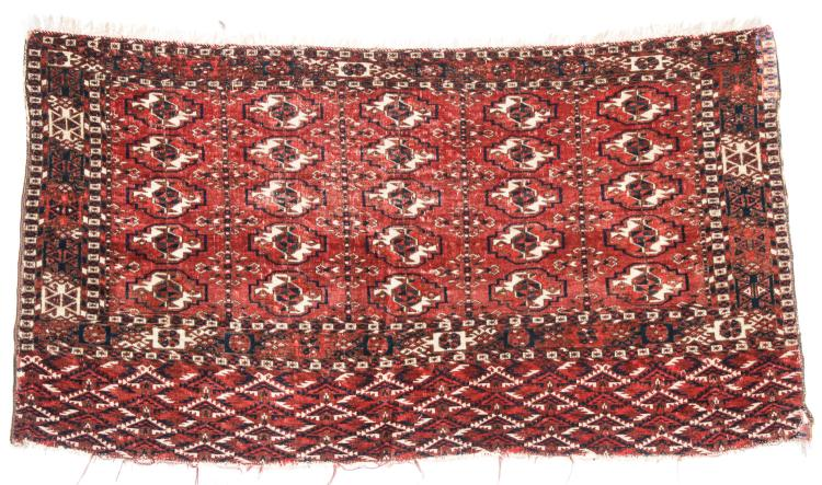 Antique Tekke Chuval, Turkmenistan: 3'10'' x 2'2''