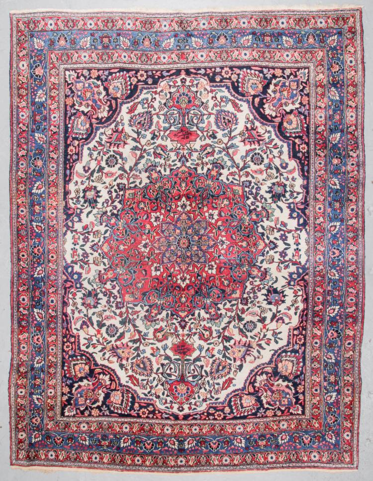 Antique Meshed Rug, Persia: 9'10'' x 11'10''