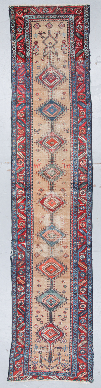 Antique Karadja Rug, Persia: 2'8'' x 12'5''