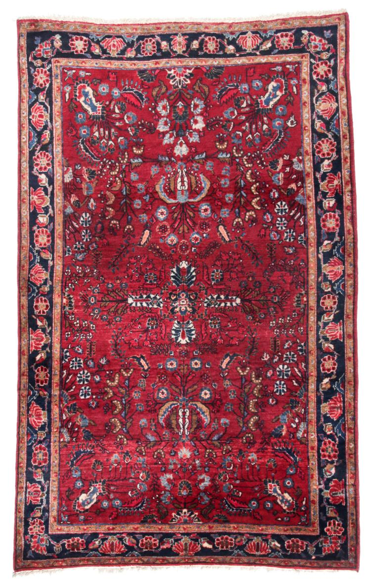 Antique Sarouk Rug, Persia: 4'5'' x 6'7''