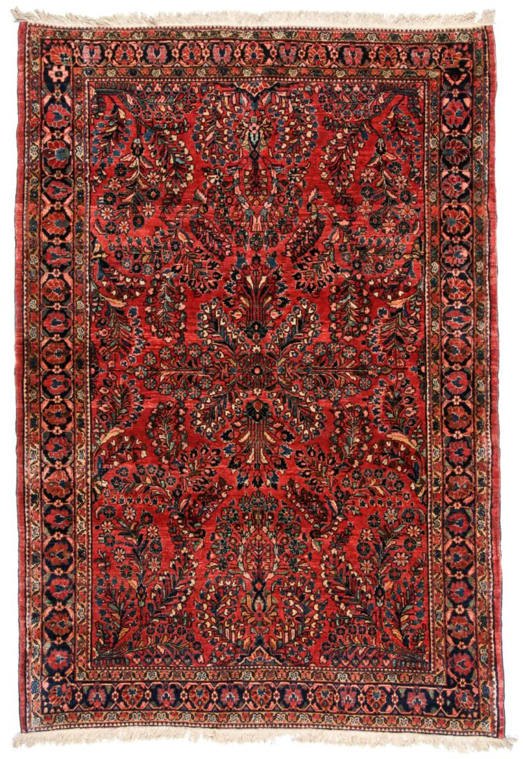 Antique Sarouk Rug, Persia: 4'4'' x 6'2''