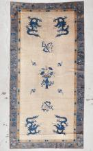 Antique Chinese Dragon Rug: 5'9'' x 11'5'' (175 x 348 cm)