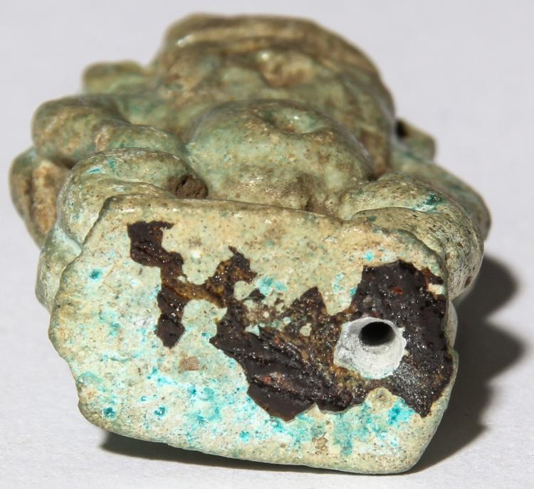 Ancient egyptian turquoise faience bes amulet for Faience turquoise