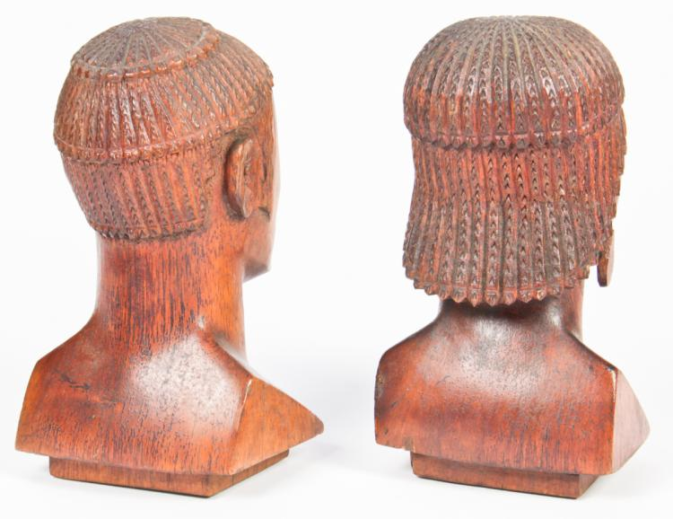 Madagascar antandroy carved wood busts