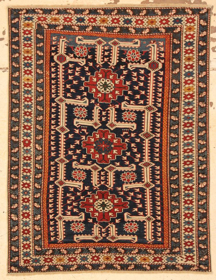 Antique Karagashli Rug 3 39 7 X 4 39 8 109 X 142 Cm