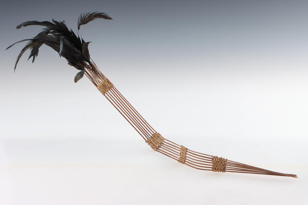 Fine and Rare Abelam Hair Ornament, East Sepik Province, PNG, Early 20th C.