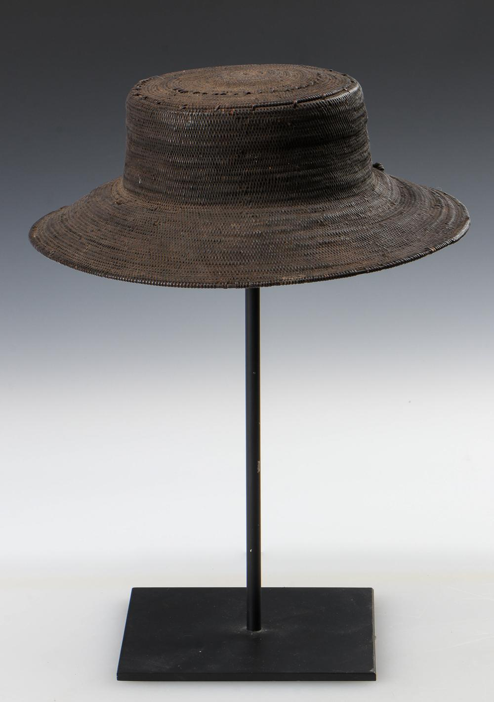 Timor Plant Fiber Hat, Early/Mid 20th C.