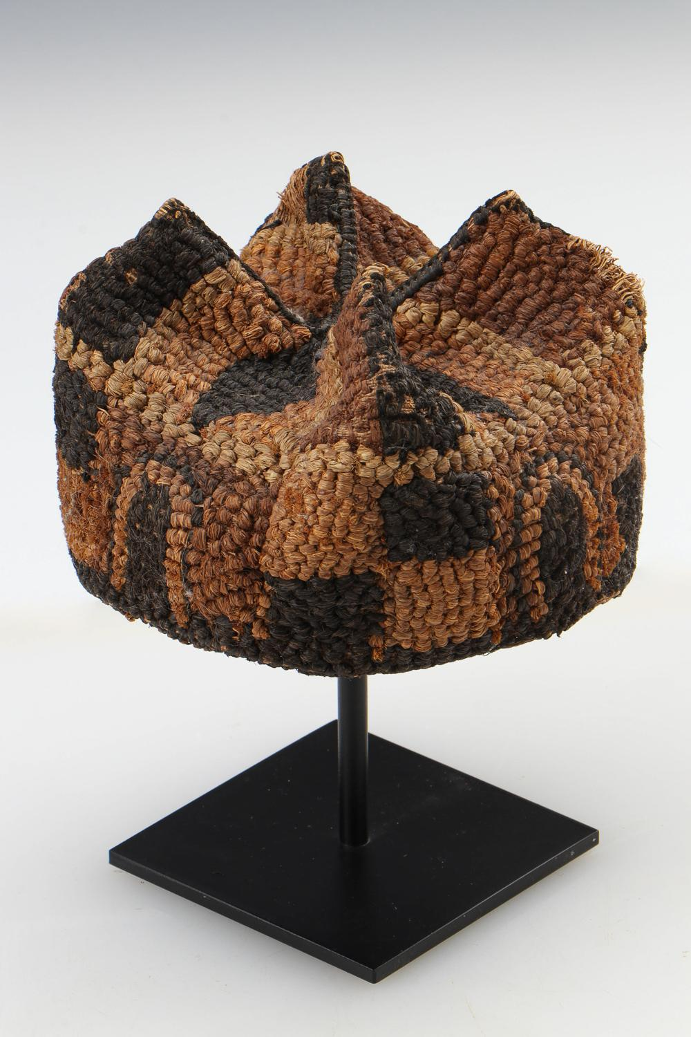 Cameroon Natural Fiber Hat, Early/Mid 20th C.