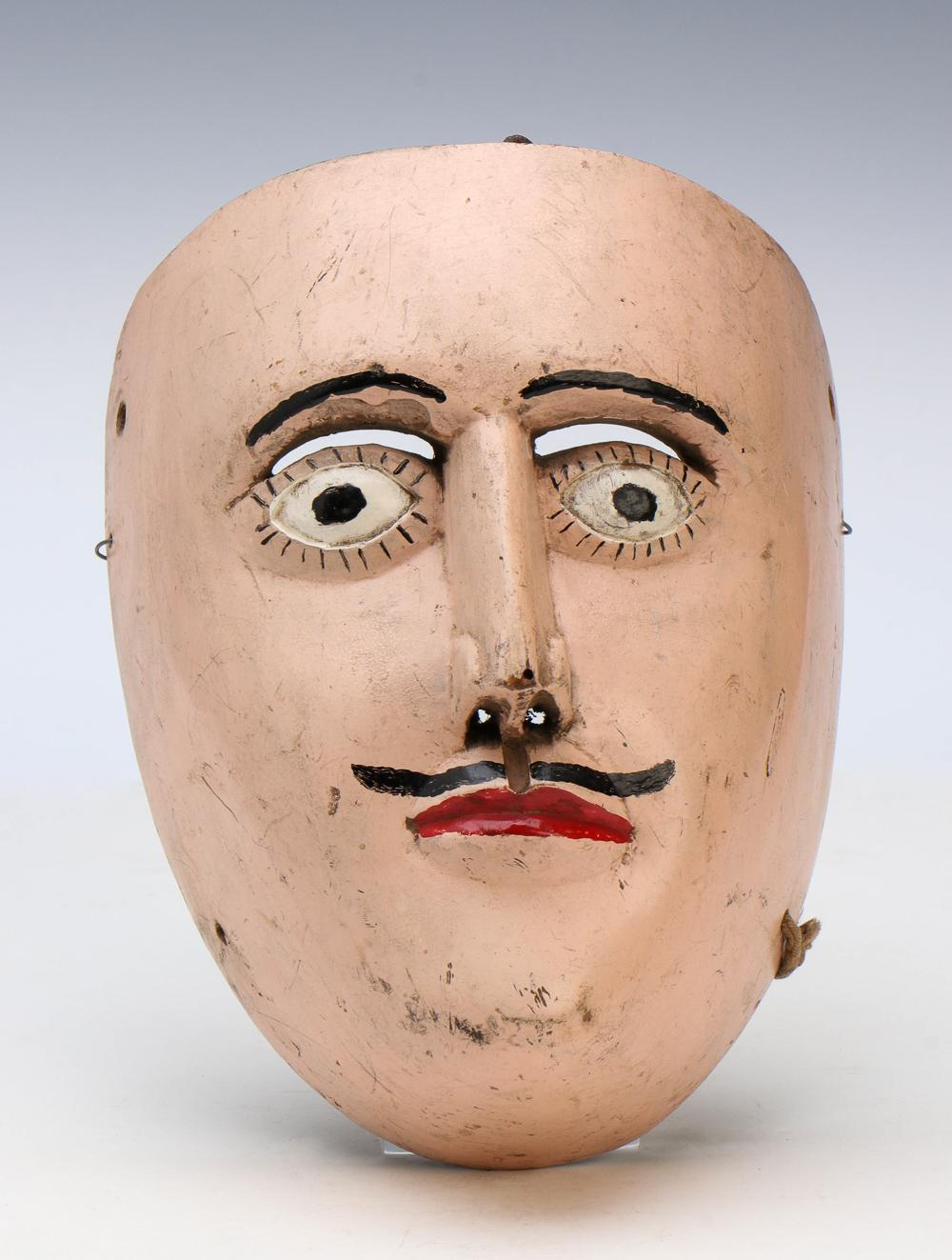 Mexican Curpites Dance Mask, Early-Mid 20th C.