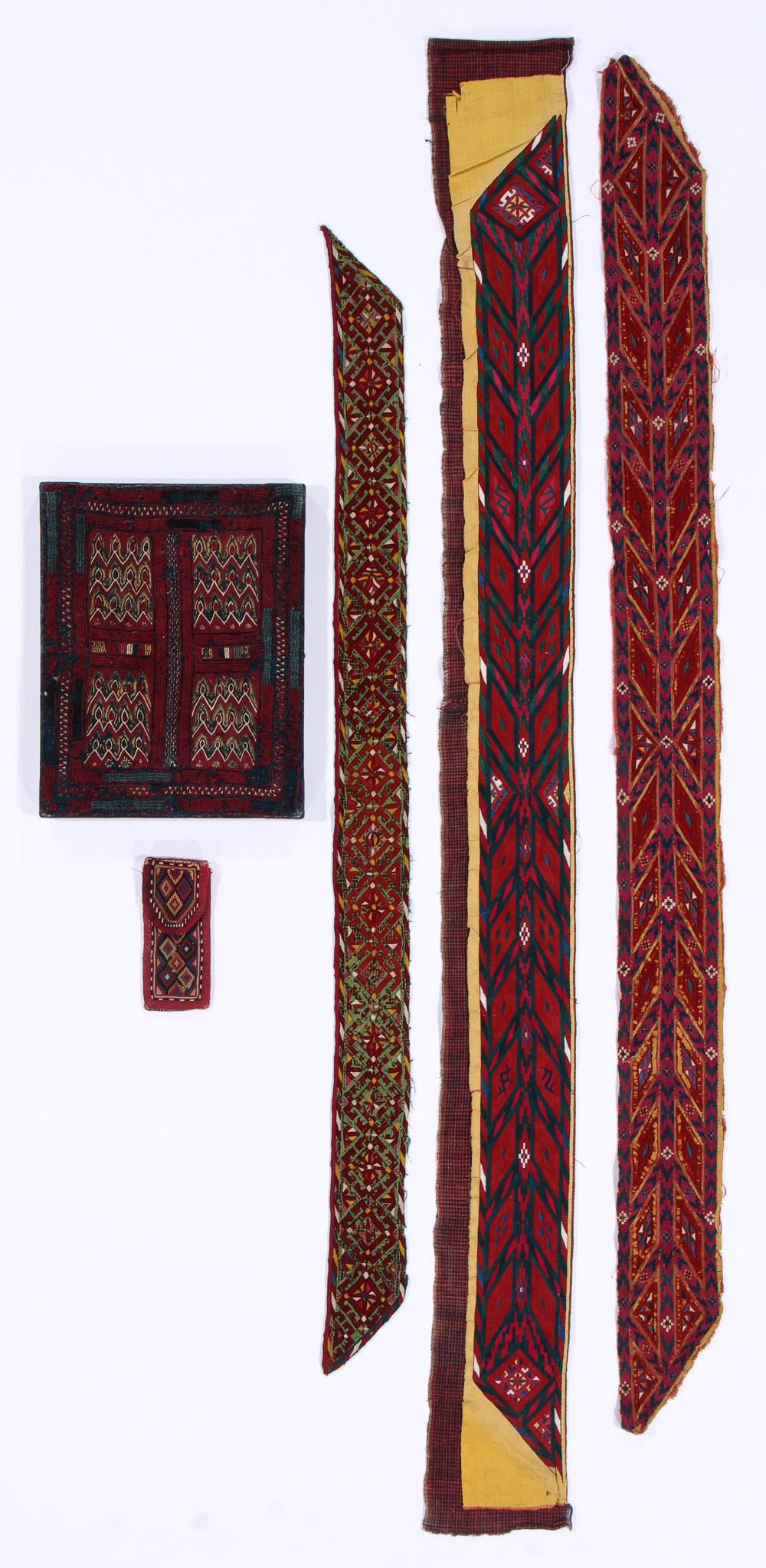Ethnographic Lot of Antique Embroidered Textiles