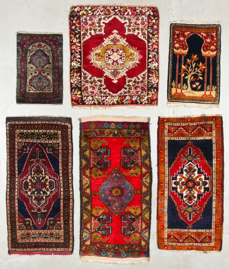 6 Old/Antique Turkish And Persian Small Rugs