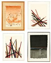 4 Abstract Works by Various Artists (American, 20th c.)