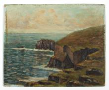 James Bennetts (British, Early 20th c) Evening, Land's End, 1924