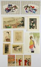 12 Asian Theme Prints by Various Artists