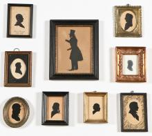 Collection of Antique Silhouettes of Gentlemen