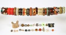 Estate Lot of Costume Jewelry Rings and Bracelets